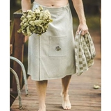 "Show details for Bath apron 75x145cm ""waffle"", brownish"