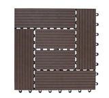 Show details for TERRACE TILES 22X300X300 BROWN