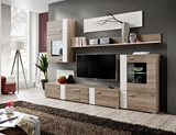 Show details for ASM Aleppo Living Room Wall Unit Set Truffle Oak