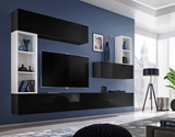 Show details for ASM Blox I Living Room Wall Unit Set Black/White