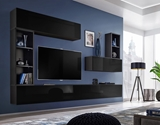 Show details for ASM Blox I Living Room Wall Unit Set Black