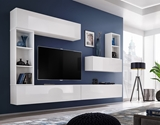 Show details for ASM Blox I Living Room Wall Unit Set White