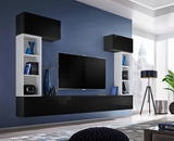 Show details for ASM Blox II Living Room Wall Unit Set Black/White