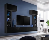 Show details for ASM Blox II Living Room Wall Unit Set Black