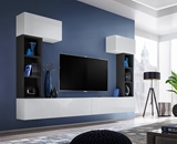 Show details for ASM Blox II Living Room Wall Unit Set White/Black