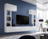 Show details for ASM Blox II Living Room Wall Unit Set White
