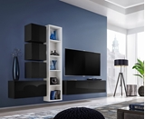 Show details for ASM Blox III Living Room Wall Unit Set Black/White