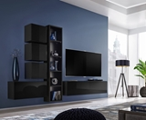 Show details for ASM Blox III Living Room Wall Unit Set Black