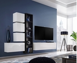 Show details for ASM Blox III Living Room Wall Unit Set White/Black