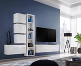 Show details for ASM Blox III Living Room Wall Unit Set White