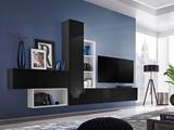 Show details for ASM Blox IV Living Room Wall Unit Set Black/White