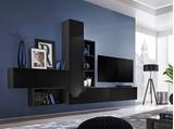 Show details for ASM Blox IV Living Room Wall Unit Set Black