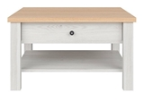 Show details for Coffee table Black Red White Amsterdam Light Gray / Oak, 800x780x450 mm