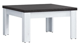 Show details for Coffee table Black Red White Antwerpen Larch, 750x750x400 mm