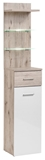 Show details for ASM Gustavo Shelf Type B+C Gloss White/Wellington Oak