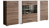 Show details for ASM Aleppo Commode Sonoma Oak/White Gloss