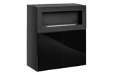 Show details for ASM Camino Uni Chest Of Drawers w/ Fireplace Black