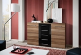 Show details for ASM Galino Fox Chest Of Drawers Black Gloss/Plum