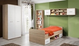 Show details for Children's room furniture set ASM Dino I White / Sonoma Oak