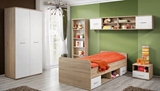 Show details for Children's room furniture set ASM Dino II White / Sonoma Oak