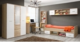 Show details for Children's room furniture set ASM Dino III White / Sonoma Oak
