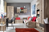 Show details for Children's room furniture set Black Red White Malcolm Oak Canyon Monument / Grey