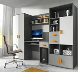 Show details for Children's room furniture set Idzczak Meble Tom 2 Gray / White / Orange
