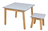 Show details for Bellamy Woody Table And Stool Grey