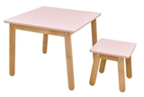 Show details for Bellamy Woody Table And Stool Pink