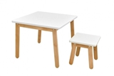 Show details for Bellamy Woody Table And Stool White