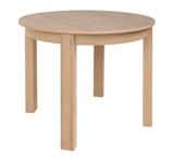 Show details for Dining table Black Red White Bernardin Oak Riviera, 950x950x760 mm