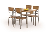 Show details for Dining set Halmar Natan Walnut