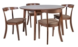 Show details for Dining set Home4you Adele Tool K21911 Brown