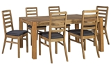 Show details for Dining set Home4you Chicago / Camden Oak / Black
