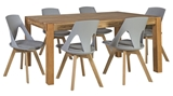 Show details for Dining set Home4you Chicago / Sanders Oak / Light Gray
