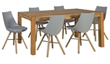Show details for Dining set Home4you Chicago / Seiko Oak / Light Gray