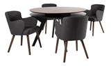 Show details for Dining set Home4you Eleanor Dark Gray / Walnut