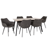 Show details for Dining set Home4you Helena / Naomi Oak / Dark Gray
