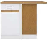 Show details for Black Red White Bottom Corner Cabinet Right Junona Line DNW/100/82P White/Sonoma Oak