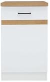 Show details for Black Red White Kitchen Bottom Cabinet Junona Line D1D/50/82L White/Sonoma Oak