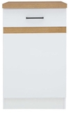 Show details for Black Red White Kitchen Bottom Cabinet Junona Line D1D/50/82P White/Sonoma Oak