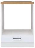 Show details for Black Red White Kitchen Bottom Cabinet Junona Line DPK/60/82 White/Sonoma Oak