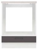 Show details for Black Red White Kitchen Bottom Cabinet Junona Line DPK/60/82 White/Wenge