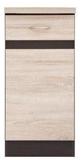 Show details for Black Red White Kitchen Bottom Cabinet Left Junona Line D1D/40/82L Sonoma Oak/Wenge
