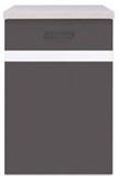 Show details for Black Red White Kitchen Bottom Cabinet Left Junona Line D1D/50/82L Wenge/White