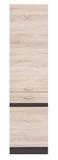 Show details for Black Red White Kitchen Bottom Cabinet Left Junona Line D2D/50/195L Sonoma Oak/Wenge