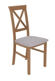 Show details for Dining chair Black Red White Alla 3 Brown / Gray