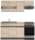 Show details for Kitchen set Black Red White Junona, 1.7 m
