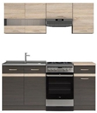 Show details for Kitchen set Black Red White Junona Wenge / Sonoma Oak, 1.7 m