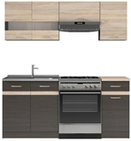 Show details for Kitchen set Black Red White Junona Wenge / Sonoma Oak, 1.8 m